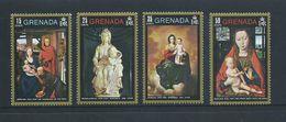 Grenada 1971 Christmas Paintings Set 4 & Miniature Sheet  MNH - Grenada (...-1974)