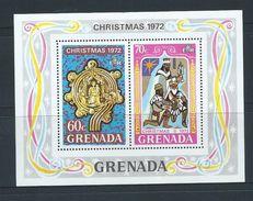 Grenada 1972 Christmas Set 6 & Miniature Sheet MNH - Grenada (...-1974)