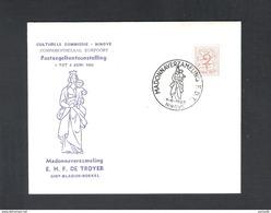 NINOVE - POSTZEGELTENTOONSTELLING F. DE TROYER- MADONNAVERZAMELING - 1 JUNI 1963 - OMSLAG  (D 004) - Cartes Souvenir