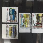 ¤NEW YEAR SALE¤ SENEGAL 2002 WITH MARGIN TRANSPORT TERRESTRE CHARRETTE CAR BUS DILIGENCE CHEVAL HORSE MOTO - RARE-  MNH - Diligences