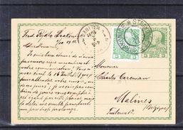 Autriche - Carte Postale De 1911 - Entier Postaux - Oblit Strakonitz - Exp Vers Malines - Storia Postale