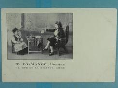 Publicité T.Formanoy Bottier Rue De La Régence Liège - Liege
