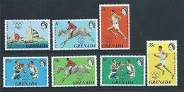 Grenada 1972 Munich Olympic Games Set Of 7 MNH - Grenada (...-1974)