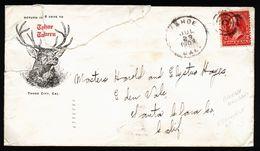 A5020) US Werbebrief Von Tahoe 29.7.1903 Mit Abbildung Hirsch - Vereinigte Staaten