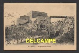 DF / 34  HERAULT / SÉTE ( CETTE ) / LE FORT SAINT-PIERRE ET PASSAGE DU TRAMWAY DANS LA TRANCHÉE /CIRCULÉE EN 1929 - Sete (Cette)