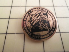 Pin1310 Pin's Pins : Rare Et Belle Qualité : SPORT / VIET VO DAO FEDERATIO EUROPEENNE D'ARTS MARTIAUX VIETS - Judo