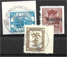 1510e: Fälschung 2. Weltkrieg, 3 Feld- Und Inselpostmarken O (wohl Fakes, Fälschungen, Ungeprüft) - Deutschland
