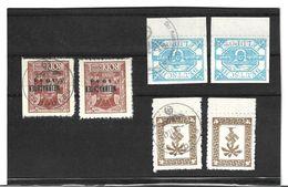 1510b: Fälschung 2. Weltkrieg, 3 Feld- Und Inselpostmarken ** Und O (wohl Fakes, Fälschungen, Ungeprüft) - Dienstpost