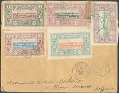 N°6/11 (le 10 Au Verso) Obl. Bleue DJIBOUTI * POSTES Sur Lettre 18 Mai 1898 Vers Incourt (Belgique) + Cachet Octogonal L - Lettres & Documents
