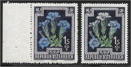 1510l: Weißer Enzian ? Leider Nein, Da Der VÖB- Prüfer Die Marke Wegen Der Teils Blauen Farbe.... - 1945-.... 2nd Republic