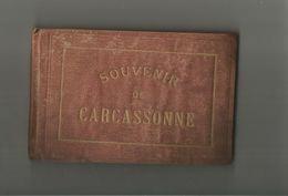 CARCASSONNE (AUDE) RARE CARNET DE 12 PHOTOGRAPHIES ANCIENNES SOUVENIR DE CARCASSONNE - Places