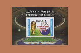 DJIBOUTI 2006 SOCCER WORLD CUP GERMANY COUPE MONDE FOOTBALL ALLEMAGNE BLOC BLOCK S/S 2005 2006 Michel Mi 161 MNH ** RARE - Djibouti (1977-...)