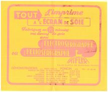 """E E S/Buvard Electro Sérigraphe """"Tiflex"""" (format 25 X 21) (buvard Plié) (N= 1) - Buvards, Protège-cahiers Illustrés"""