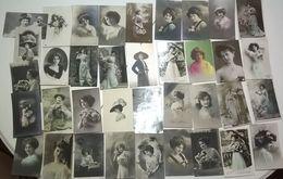 Femmes élégantes + Fleurs Chapeaux .... Réunion De 37 Cartes - Moda