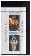 TOUVA (RUSSIA) 1995  HOLLYWOOD STARS SILVESTER STALLONE Rocky IV Witches Of Eastwick Jack Nicholson  SHEET FOGLIETTO MNH - Tuva