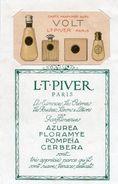 712z   Carte Parfumée Parfum Volt L.T. Piver Sur Son Support Publicitaire (rare) - Perfume Cards