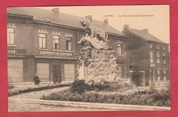 """Luttre - Le Monument Des Combattants ... Magasin """" Coopérative Ouvrière """" ( Voir Verso ) - Pont-à-Celles"""