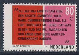"""Nederland Netherlands Pays Bas 2001 Mi 1864 ** Citaat """"Apollien"""", Toneel (1998) Hafid Bouazza - Schrijvers"""