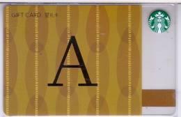 Starbucks China 2017 The English Alphabet Gift Card RMB100 A Word - Chine