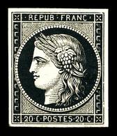 ** N°3, 20c Noir Sur Jaune, Fraîcheur Postale, SUP (signé Brun/certificat)   Qualité: ** - 1849-1850 Ceres