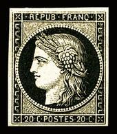 * N°3, 20c Noir Sur Jaune. TB (signé Brun)   Qualité: *   Cote: 600 Euros - 1849-1850 Ceres