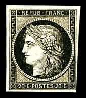 * N°3, 20c Noir Sur Jaune. TB (signé Calves)   Qualité: *   Cote: 600 Euros - 1849-1850 Ceres