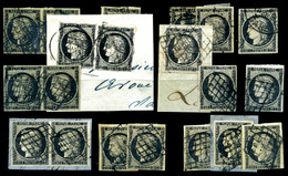 O N°3, 20c, Lot De 19 Exemplaires Avec Obl Et Nuances Différentes, Bonne Qualité Générale   Qualité: O - 1849-1850 Ceres