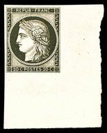 ** N°3f, 20c Noir Sur Jaune, Impression De 1862, Coin De Feuille Intégral, Fraîcheur Postale, SUP (certificat)   Qualité - 1849-1850 Ceres