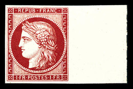 ** N°6f, 1f Carmin, Impression De 1862, Fraîcheur Postale Bdf. SUP (certificat)   Qualité: ** - 1849-1850 Ceres