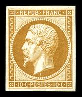 * N°9e, 10c Bistre, Impression De 1862. TB (certificat)   Qualité: *   Cote: 750 Euros - 1852 Louis-Napoleon