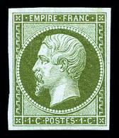 ** N°11, 1c Olive, Fraîcheur Postale. SUP (certificat)   Qualité: ** - 1853-1860 Napoleon III