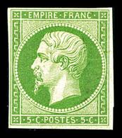 * N°12, 5c Vert, Bel Exemplaire, TTB (signé/certificats)   Qualité: *   Cote: 1400 Euros - 1853-1860 Napoleon III