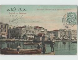 Grèce ... SALONIQUE ... Berceau De La Liberté Ottomane ... Souvenir De Salonique (timbre 5c Blanc Levant 1911) - Grecia