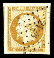 O N°13A, 10c Bistre Type I, Grandes Marges, Pièce Choisie (certificat)   Qualité: O - 1853-1860 Napoleon III