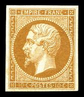 ** N°13B, 10c Brun-clair Type II, Fraîcheur Postale, SUP (signé Calves/certificat)   Qualité: ** - 1853-1860 Napoleon III