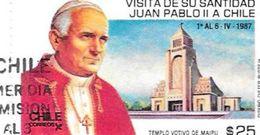 VISITA DE SU SANTIDAD JUAN PABLO II 1 AL 6 DE ABRIL DE 1987 CHILE CILE CHILI SOBRE PRIMER DIA DE EMISION RARE TRES BON E - Chile