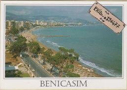 Benicasim - Cpm / Paseo Maritimo Y Playa. - Castellón
