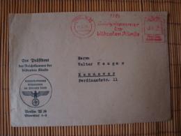 Freistempler Mit Inhalt, Der Präsident Der Reichskammer Der Bildenden Künste, Berlin, Gelaufen 1941 - Deutschland