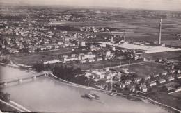 ISERE DECINES VUE GENERALE AERIENNE ET USINE DE SOIERIE - France