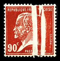 * N°178, Pasteur, 90c Rouge: DOUBLE PLI ACCORDEON, SUPERBE (certificat)   Qualité: * - Errors & Oddities