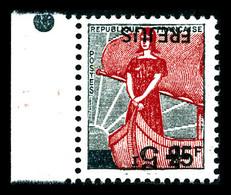 ** N°1229b, Frejus, Surcharge Renversée, Bdf. SUP (signé Calves/certificat)   Qualité: **   Cote: 2700 Euros - Errors & Oddities