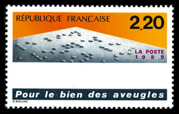 ** N°2562b, Sans L'inscription En Braille, RARE ET SUPERBE (signé Calves/certificat)    Qualité: **   Cote: 3500 Euros - Errors & Oddities
