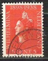 NEDERLAND Plaatfout 311 P Gestempeld - Errors & Oddities