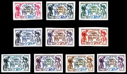 ** N°955, 12f Tour De France, 10 Exemplaires Multicolores. TTB (certificat)   Qualité: **   Cote: 900 Euros - Proofs