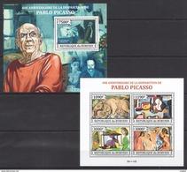 H921 2013 BURUNDI ART PABLO PICASSO 1KB+1BL MNH - Picasso
