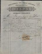 14 - BENOUVILLE - FACTURE 1883 - Bourrelier - Harnacheur - 1800 – 1899