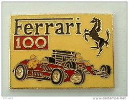 Pin'S FERRARI - 100éme VICTOIRE EN GRAND PRIX F1 - PILOTE ALAIN PROST - EMAIL - 48 X 30 Mm - Ferrari