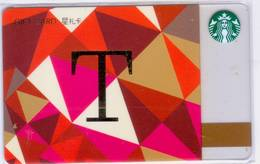 Starbucks China 2017 The English Alphabet Gift Card RMB100 T Word - Chine