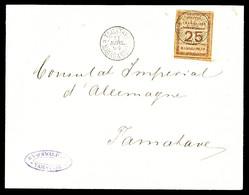O N°11, 25c Brun Sur Chamois Sur Lettre Locale De Tamatave. TB   Qualité: O   Cote: 400 Euros - Used Stamps