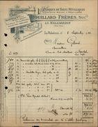 14 - LA MALADRERIE - FACTURE 1922 - Fabrique De Toiles Métalliques ROUILLARD - France